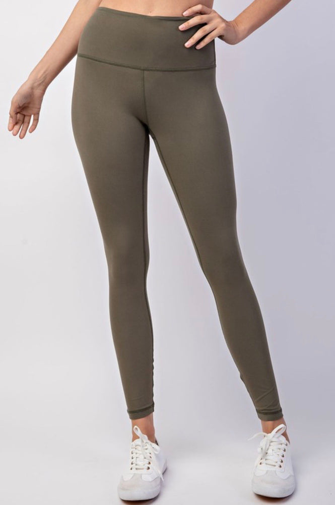 Butter soft leggings-olive