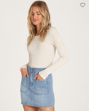 Magic Touch Denim Skirt