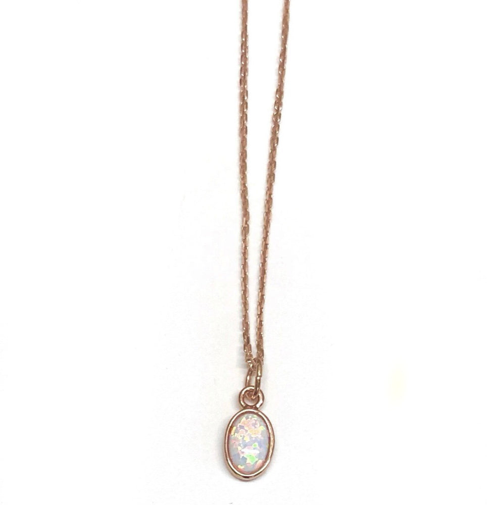 Opal, Rose gold Necklace