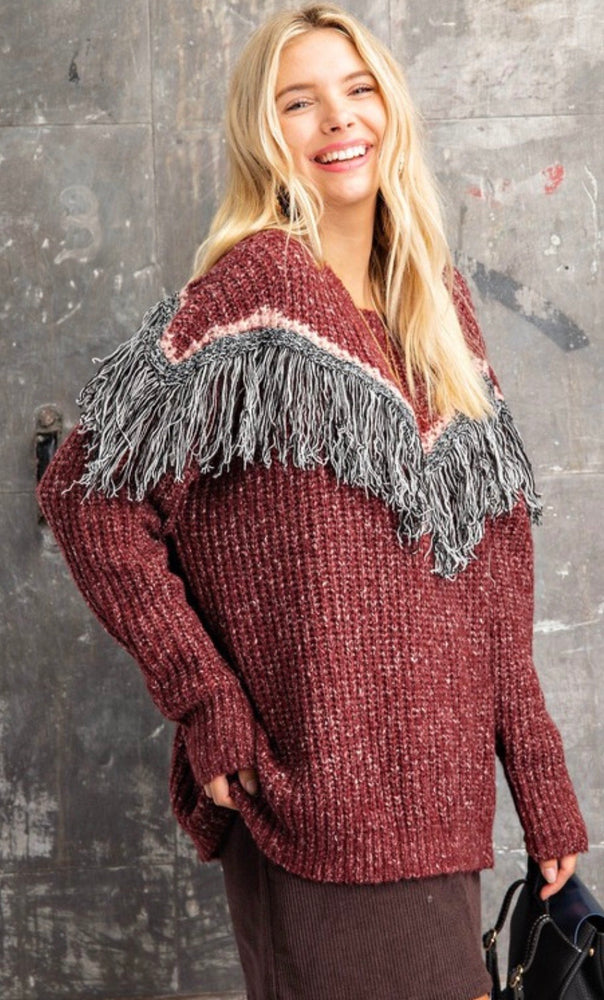 Kori Fringe Sweater