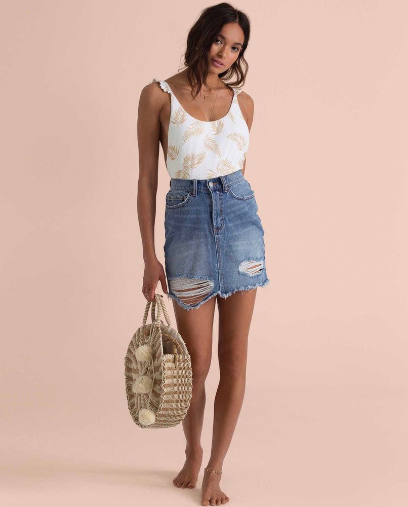 Take Risk Denim Skirt