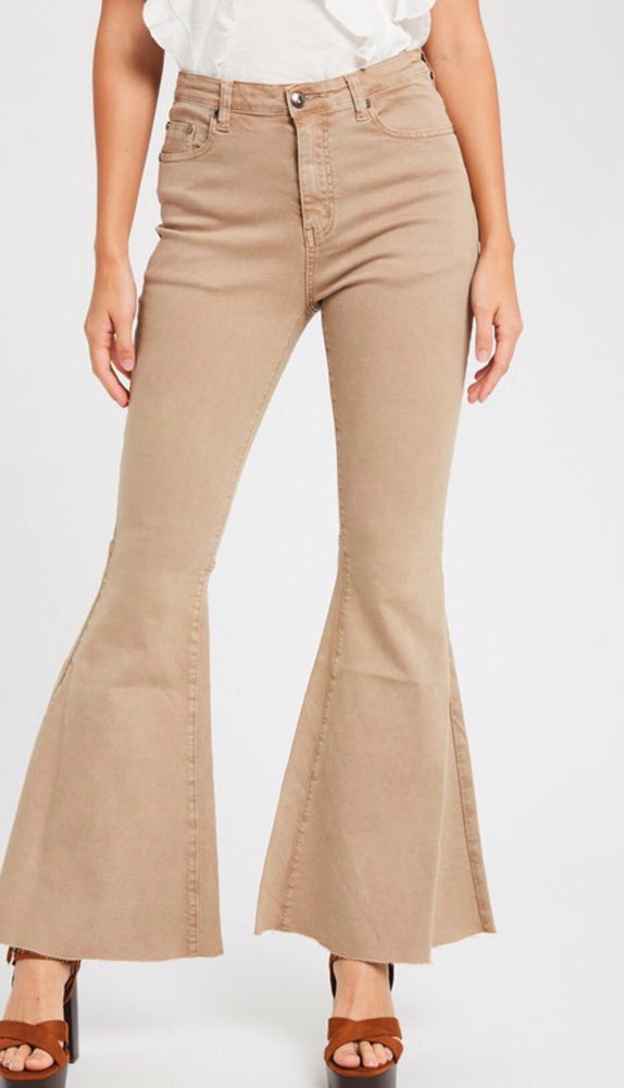 Lilly Beige Bell Bottoms