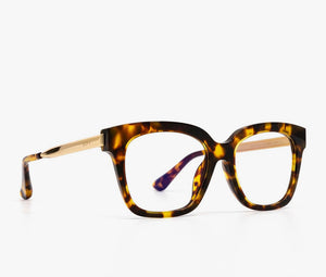 Bella xs- hazel tortoise blue light glasses