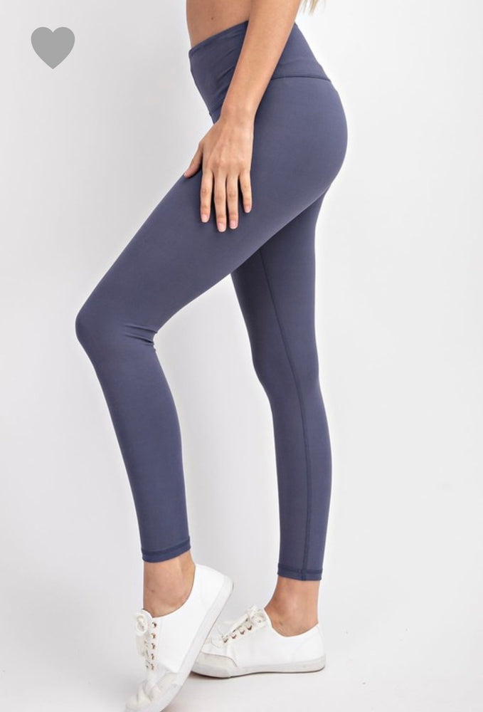 Butter soft leggings- vintage blue