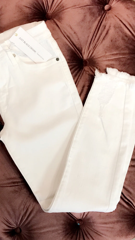 White Skinnies by Just Black