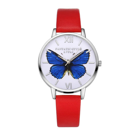 Leather Butterfly Watch