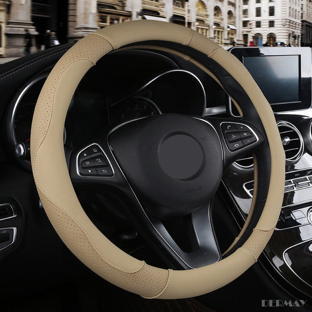 Sport Non-slip Leather Steering Wheel Cover