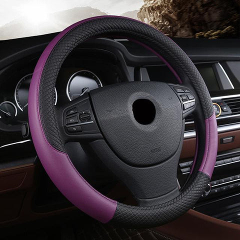 Universal Leather Car Steering Wheel Cover
