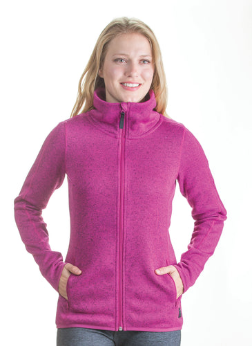 Womens full zip sweater