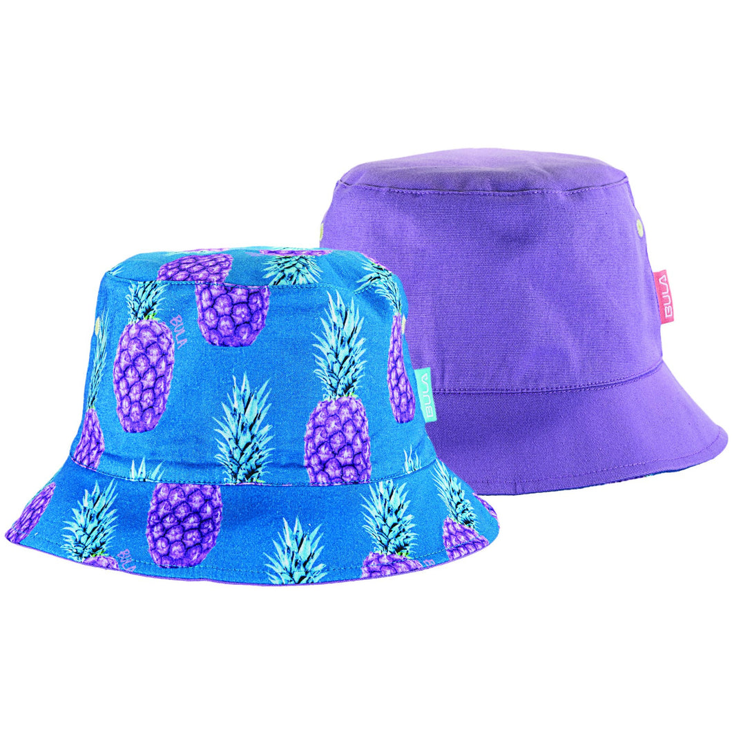 Kids Bucket Hat (Reversible) - Pineapple / Purple