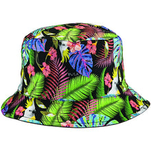 Reversible Bucket Hat - Jungle / Black