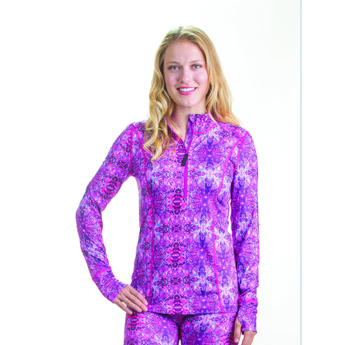 Womens Kaleidoscope 1/4 Zip Base Layer