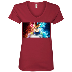 SSG Vegeta Ladies' V-Neck T-Shirt