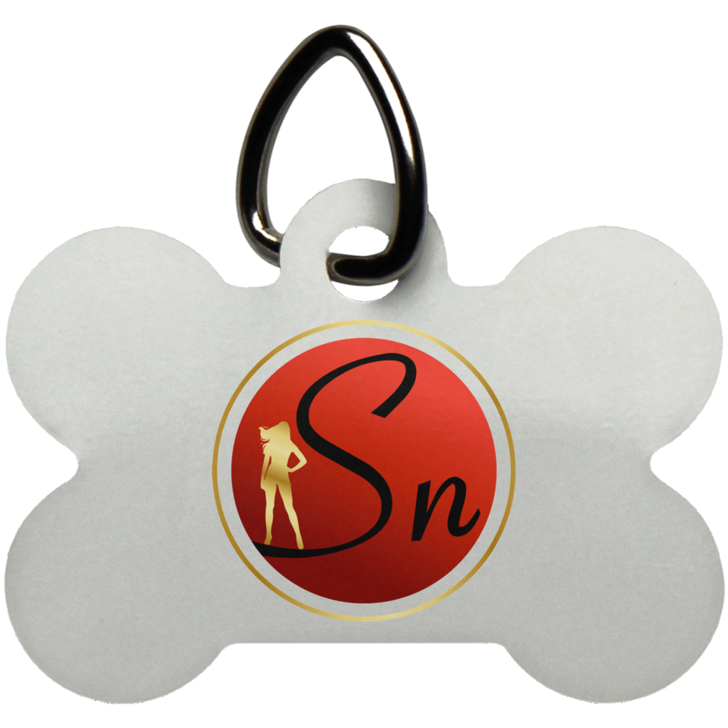 Saucy Nation Dog Bone Pet Tag