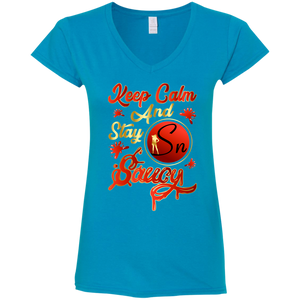Saucy Nation Ladies' Fitted V-Neck T-Shirt