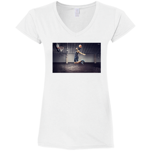 Dunk Ladies' Fitted Softstyle  V-Neck T-Shirt