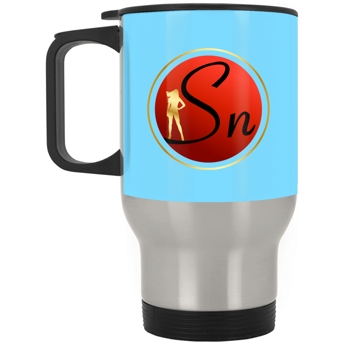 Saucy Nation Silver Stainless Travel Mug