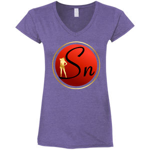SN Logo Ladies' Fitted V-Neck T-Shirt