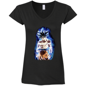 UI Goku Ladies' Fitted V-Neck T-Shirt