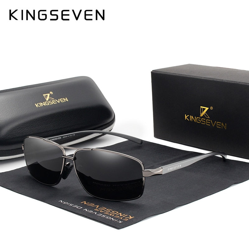 KINGSEVEN Vintage Retro Designer Men's Polarized Sunglasses