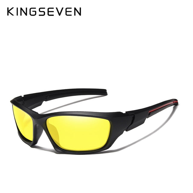 KINGSEVEN Men's Driving Night Vision Sun Glasses