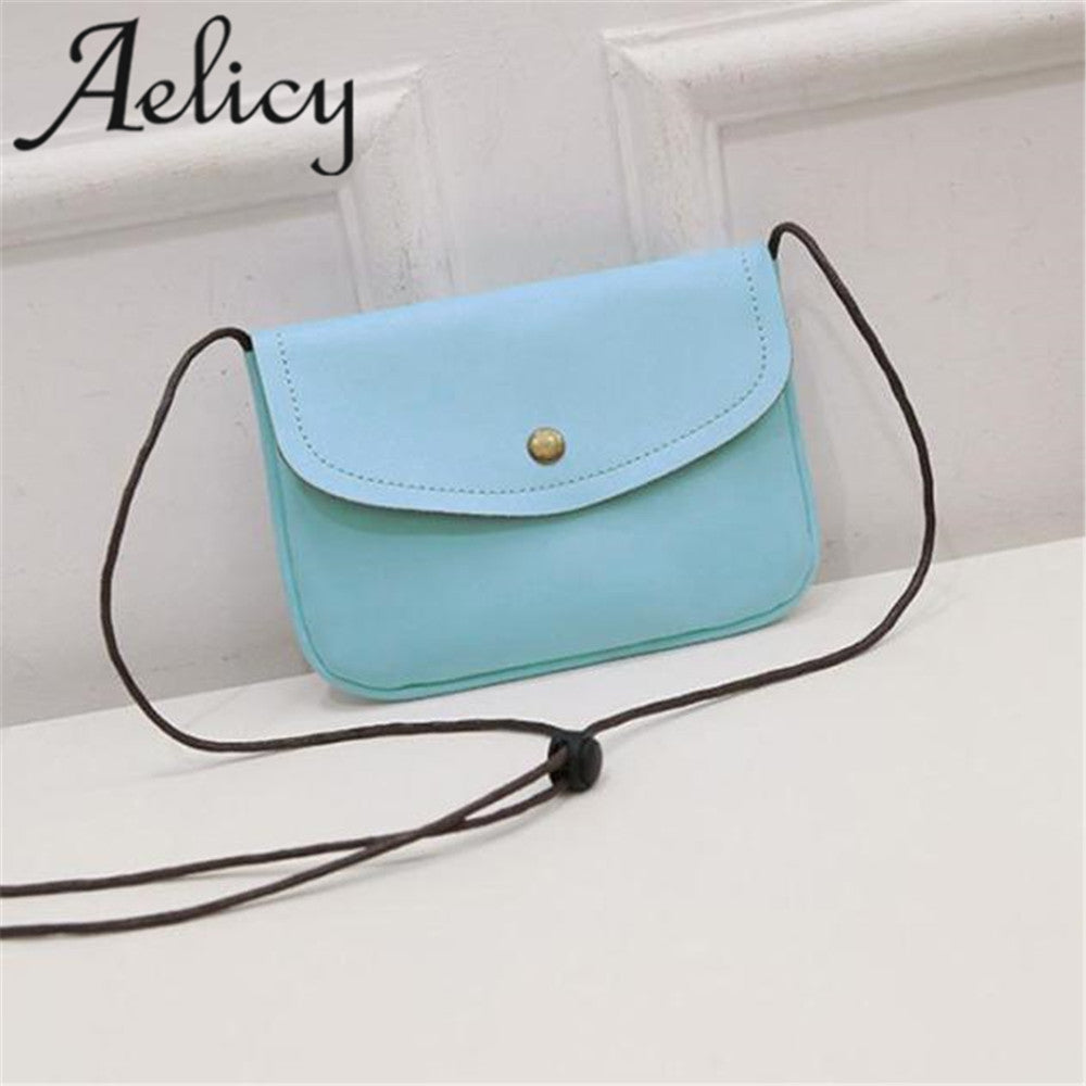 Aelicy bags for women 2018 Retro Cover Hasp Crossbody Bag Girls Leather Messenger  Bag Phone Coin ... b20cec6596994