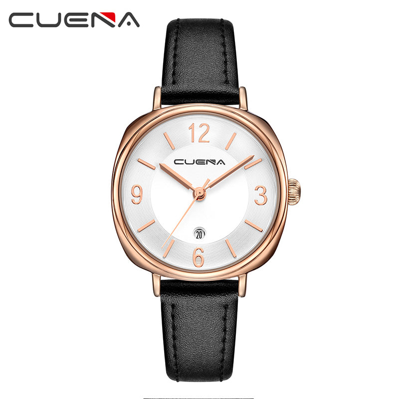 c13391a623d ... CUENA Brand Watches Women Fashion Luxury Watch Ladies Quartz Clock  Leather Casual Relojes Mujer Montre Femme ...