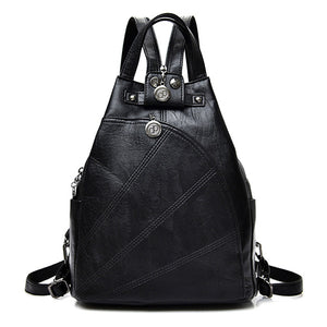 30bf93e762b9 Fashion Leisure Women Backpacks Women s PU Leather Backpacks Female school Shoulder  bags for teenage girls Travel