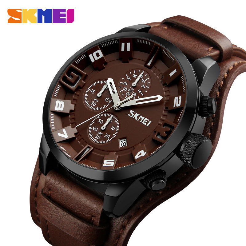 d466a8969 SKMEI New Fashion Sport Quartz Watches Men Luxury Business Leather Watch  Waterproof Wristwatches Male Clock Relogio ...