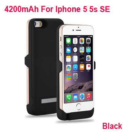 new arrival 9b93a 34f5e Top 100% New 4200mAh Battery Charger Case For iPhone 5S SE Power Bank Case  Phone Battery Pack cover For iPhone 5 s Battery Case