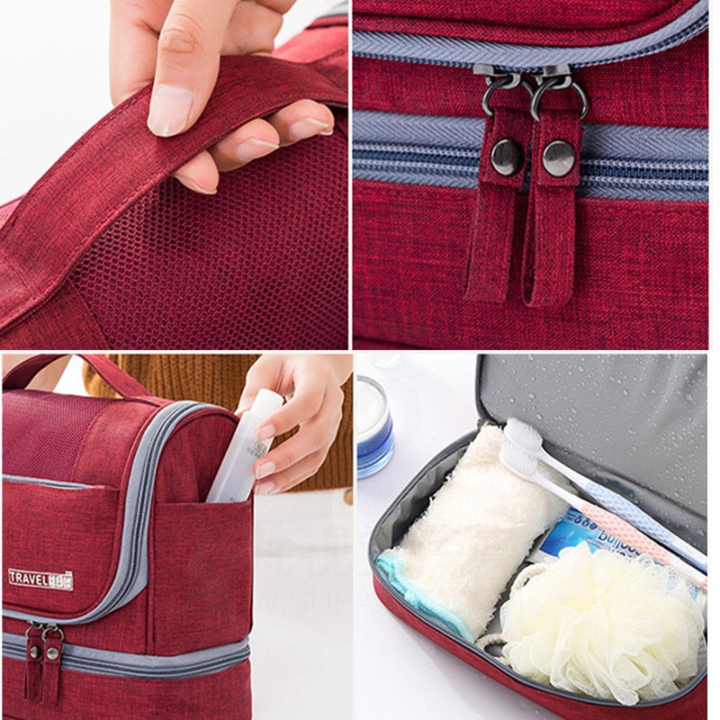 ... Women Men Hanging Cosmetic Bag Travel Necessarie Portable Toiletry  Storage Makeup Vanity Cases Organizer Beauty Hook ... f125e7965ff3a