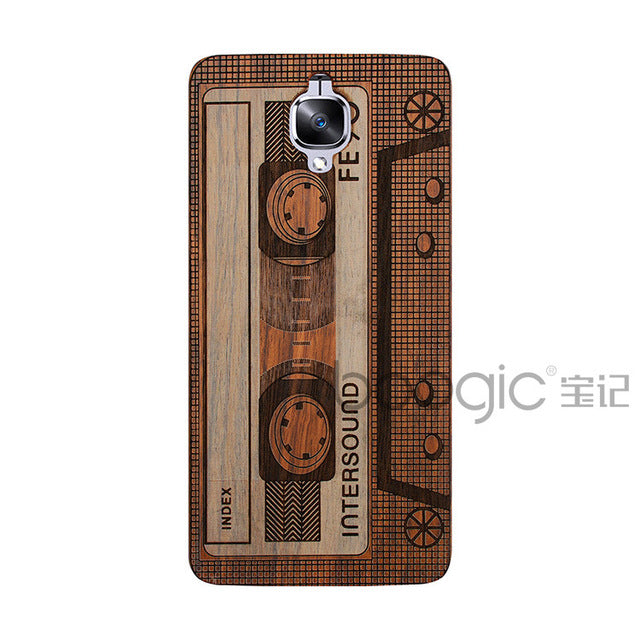 big sale 71198 6737b Unique OnePlus 3 A3000 Slim Bamboo Wood PC Back Cover Case For Oneplus  Three Oneplus 3T Phone Cases