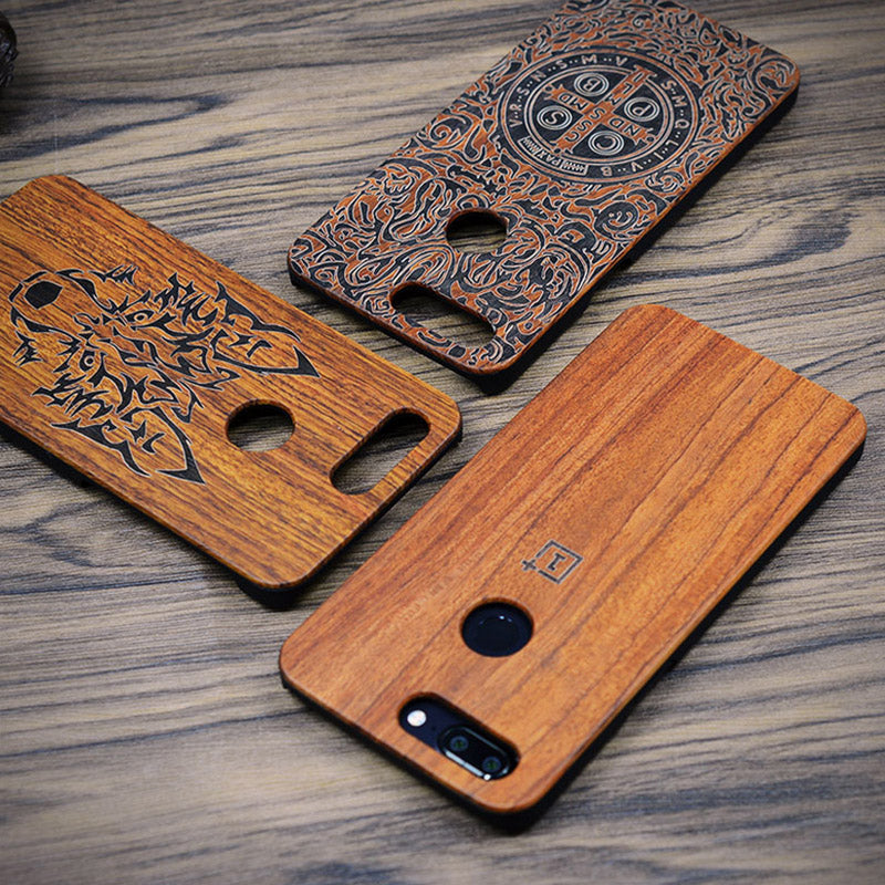 size 40 ed2d3 6623b Oneplus 5t Case For Oneplus 5t Case On One Plus 5t Wood Cover One-plus-5t  PC Carved Pattern Natural Wooden Coque 6.01 Phone Capa