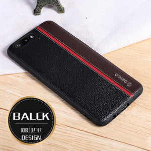info for 266b8 3b16d Oneplus 5T Case Original Genuine Leather Metal Sequins LOGO Car Magnetic  Tricolor Oneplus 5 Case Oneplus5T One Plus 5 5T Cover