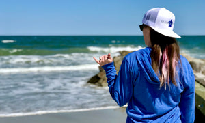 Sea Turtle Shuckable Oyster Clothing Apparel Hat and Shirt at the Beach Ocean at Pawleys Island South Carolina
