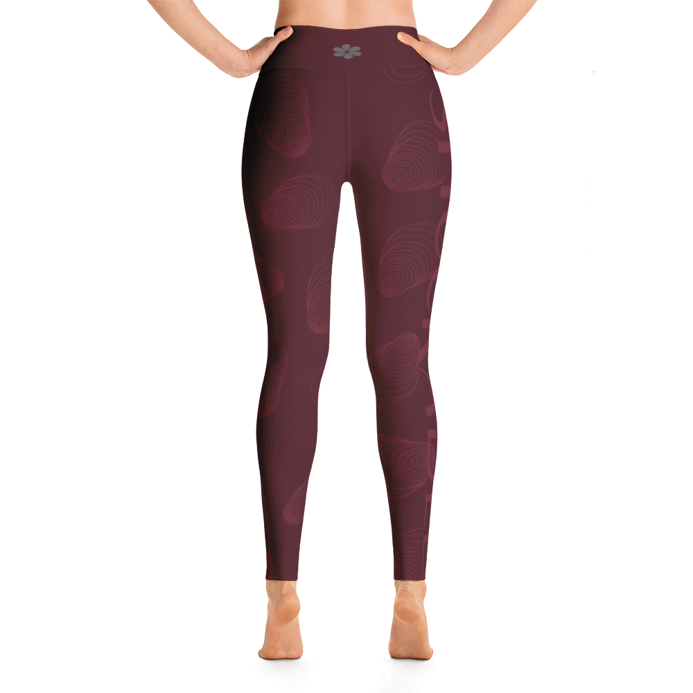 Maroon Shuckable Shell Yoga Leggings