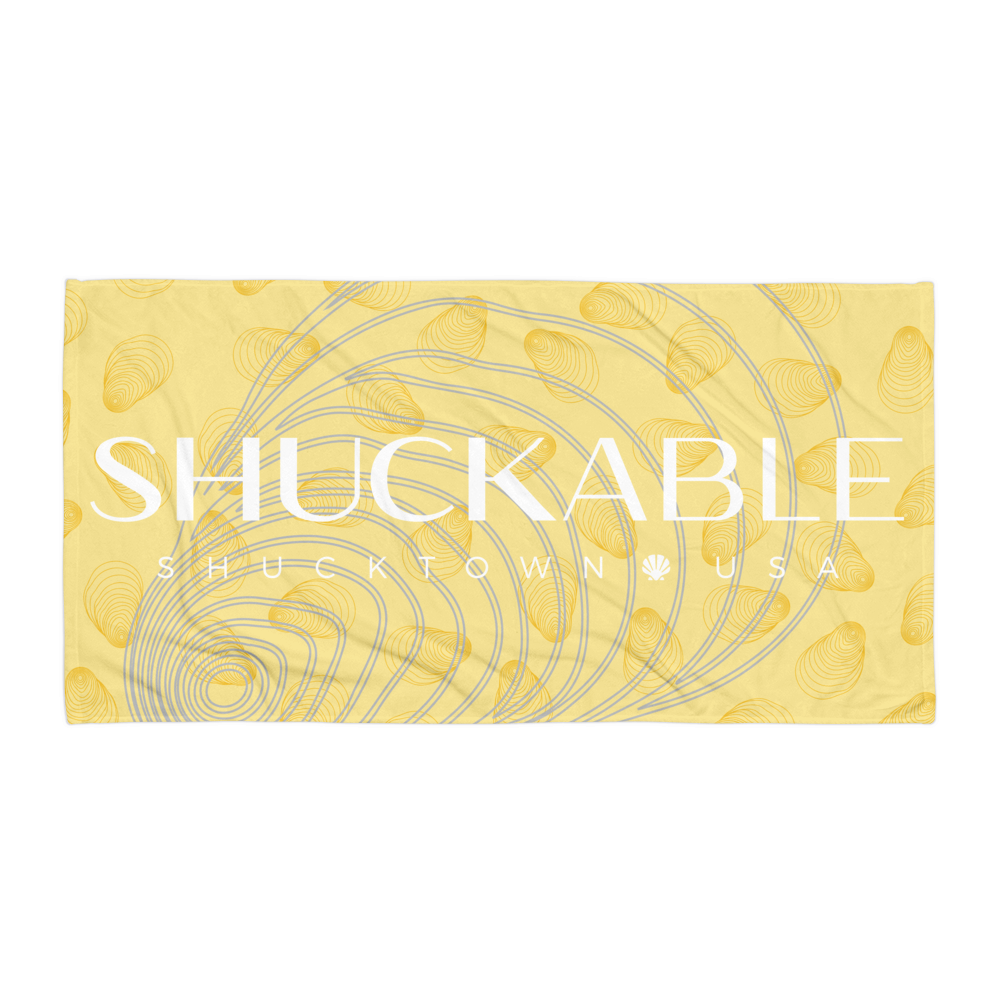 Shuckable Yellow Shell Towel