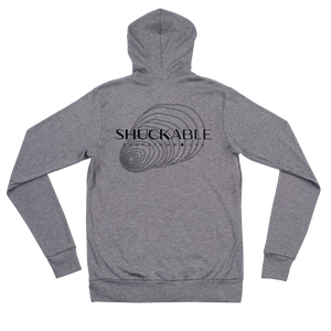 Shuckable Large Shell Unisex zip Hoodie