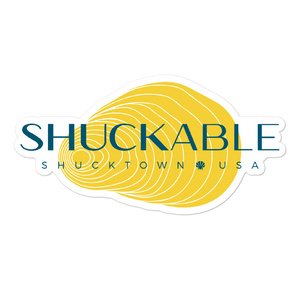 Shuckable Shell Vinyl Sticker Yellow