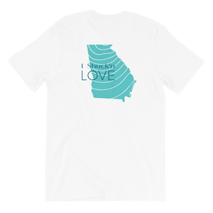 I shuck'n Love Georgia Short Sleeve Tee Shirt