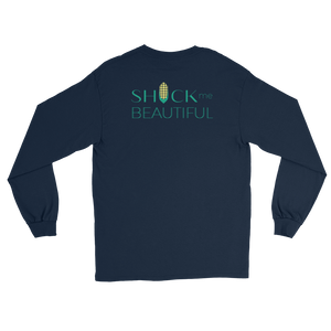 SHUCK ME BEAUTIFUL CORN HUSK LONG SLEEVE Tee