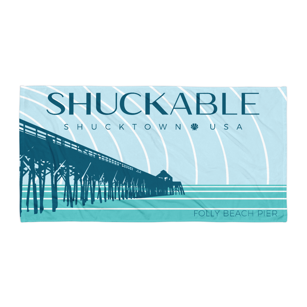 Folly Beach Pier Shuckable Towel