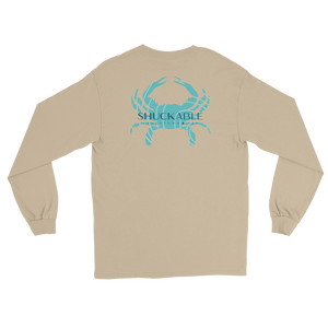 Shuckable Blue Crab Long Sleeve Tee