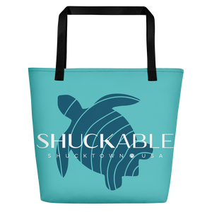 SHUCKABLE Blue Turtle  BEACH BAG