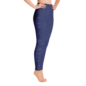 Navy on Navy SHUCKABLE SHELL YOGA LEGGINGS