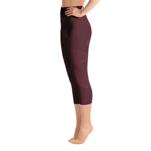 Maroon Shuckable Shell Yoga Capri Leggings