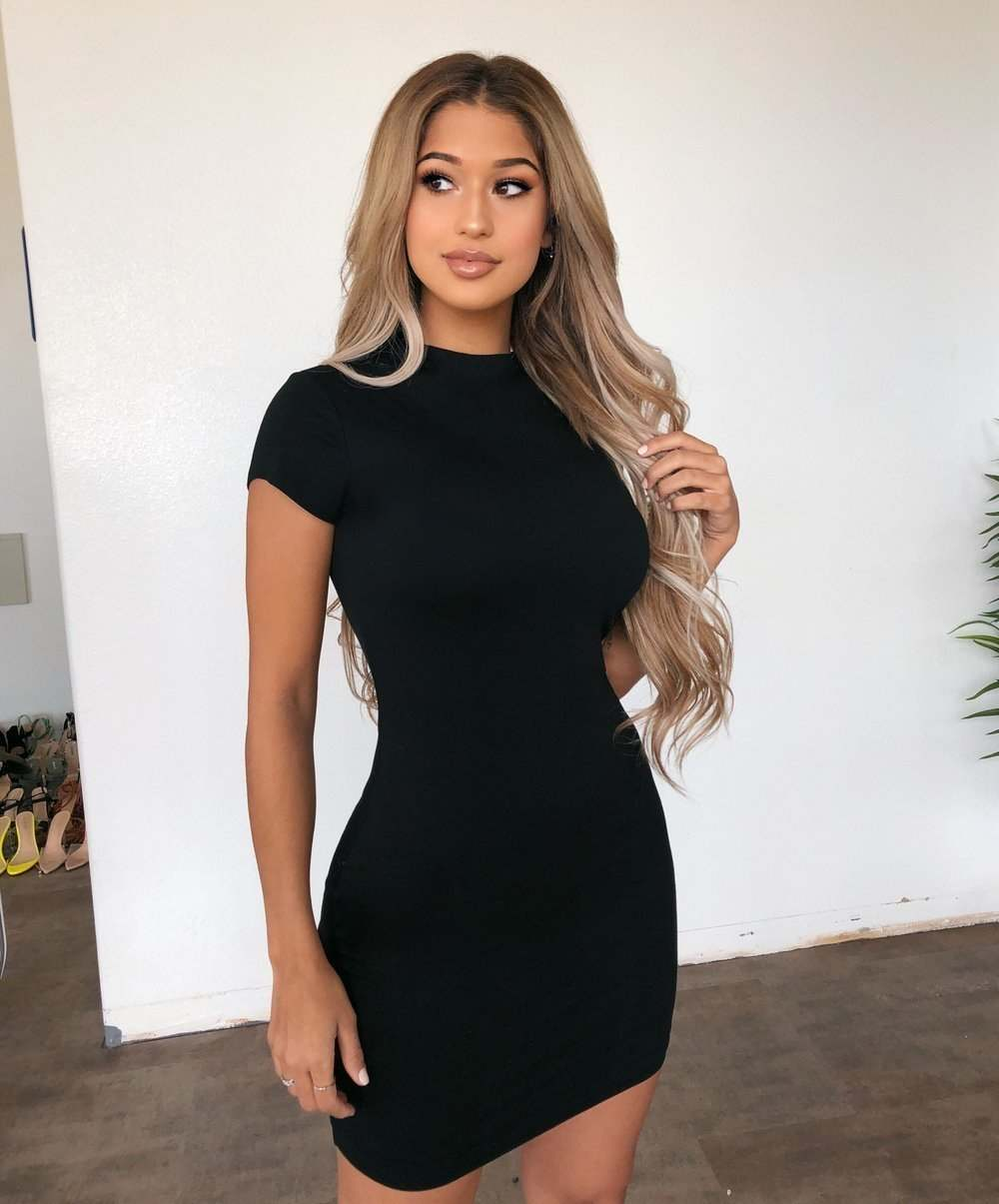 Abby Short Sleeve Dress(Black)
