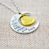 """I Love You To The Moon And Back""  Family Necklace"