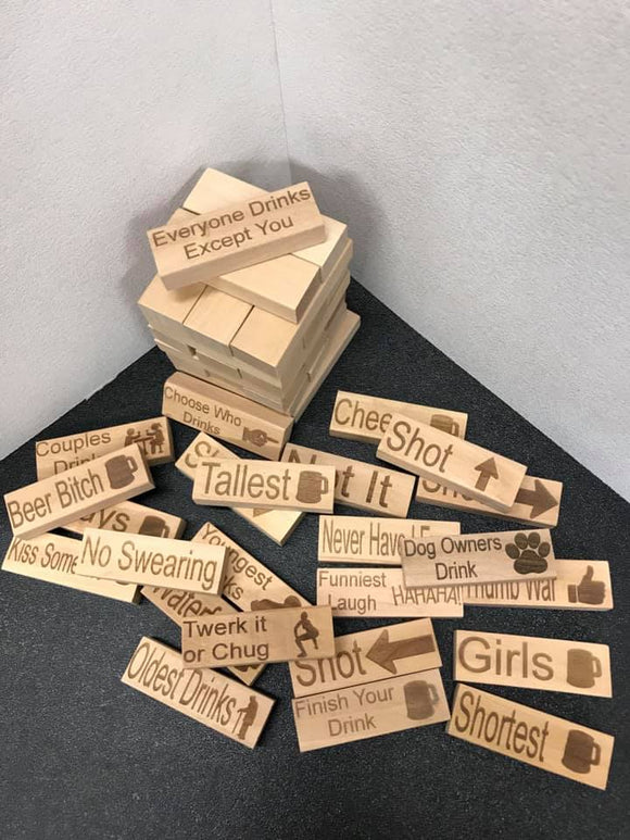 Blocks Drinking Game Adult Party Game like jenga