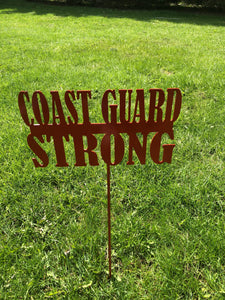 Coast Guard Strong Yard stake